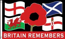 BRITAIN REMEMBERS - 5 X 3 FLAG